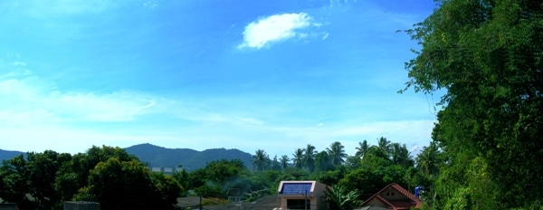 Looking across to the Nakkerd Hills from the standard Rawai apartments